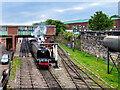 SD8010 : Preserved Locomotive Leaving Bury by David Dixon