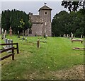 SO4110 : Church, churchyard and trees, Tregare, Monmouthshire by Jaggery