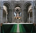 TG2308 : Norwich - Cathedral - High altar and bishop's throne by Rob Farrow