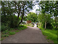 ST4257 : A Frame Barriers on Strawberry Line NCN26 by Kevin Pearson