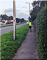 ST3091 : Jogging up the Malpas Road pavement, Newport by Jaggery