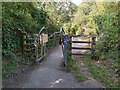 ST4159 : A Frame Barrier on Strawberry Line NCN26 in Sandford by Kevin Pearson