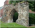 TG2309 : Norwich - Arch - remains of  Anchorite House, Whitefriars by Rob Farrow