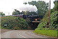 SO7388 : Severn Valley Railway - No. 7714 crossing the B4555 by Chris Allen