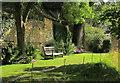 SP0933 : Garden seat, Snowshill Manor by Derek Harper
