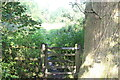 SO3404 : Gate on footpath near old pumping station by M J Roscoe