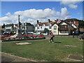 TM4656 : War  Memorial  cross  and  garden  Aldeburgh by Martin Dawes