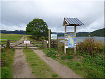 NS0274 : Balnakailly Forest Walk signs by Thomas Nugent