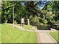 SN9584 : Path junction at Porte Gardens (Llanidloes) by Fabian Musto