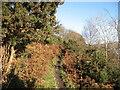 SD2993 : The Cumbria Way near Sunny Bank Jetty by Adrian Taylor