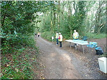 SK1407 : First water station for the runners by Richard Law