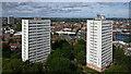SP0686 : Inner city tower blocks in Birmingham by Roger  Kidd