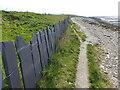 SH6674 : Slate fence along the Wales Coast Path by Mat Fascione