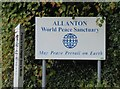 NX9184 : Sign to Allanton by Russel Wills