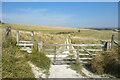 SU0569 : Gate on Cherhill Down by Des Blenkinsopp