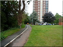 SK2003 : Runner on a riverside path by Richard Law
