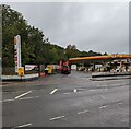 ST3089 : No fuel at the Shell filling station, Crindau, Newport by Jaggery