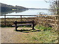 SK2552 : Bench with a view over Carsington Water by Eirian Evans