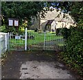 SO3402 : Southwest entrance to St Matthew's churchyard, Monskwood by Jaggery