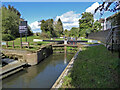 SO8459 : Droitwich Barge Canal, lock No. 1 by Chris Allen