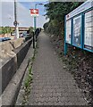 ST1676 : Path ascending to Ninian Park station platform 1, Cardiff by Jaggery