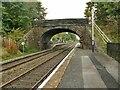 SD9353 : Station platform (low level) and Lobby Bridge, Gargrave by Stephen Craven