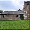 ST4599 : North side of Wolvesnewton church by Jaggery