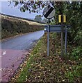 SO3301 : National Speed Limit sign at the edge of Glascoed, Monmouthshire by Jaggery