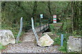 SN5104 : Squeeze stile to footbridge over stream by M J Roscoe