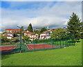 TQ2285 : Tennis courts, Gladstone Hill Park by David Hawgood