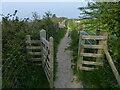 SH6172 : Gate along the Wales Coast Path by Mat Fascione