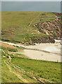 SX6345 : Coast path at Westcombe Beach by Derek Harper