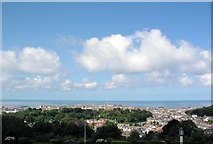 SN5981 : View of Aberystwyth from the National Library of Wales by mym