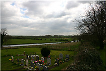 SP9676 : River Nene from Woodford Church by Alan Simkins