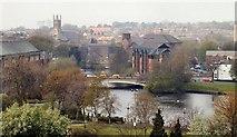 SK3536 : River Derwent in Derby centre by Chris J Dixon