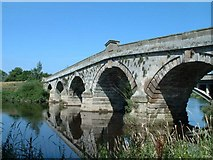 SJ5409 : Old Atcham Bridge by John Phillips