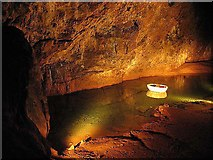 ST5348 : Subterranean Lake at Wookey Hole by Pam Brophy