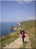 SY8080 : A view of Man o' War Cove and  Durdle Door by Allyson Taylor