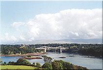 SH5571 : Pont y Borth - Menai Suspension Bridge by Andy Beecroft