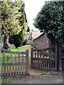 SO4841 : The pathway to St Mary's Church, Huntington Lane, Hereford by Ruth Harris