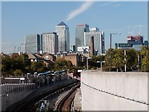 TQ3778 : Docklands Light Railway - Mudchute Station by David Rayner