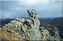 NN2505 : The summit of The Cobbler. by Richard Webb