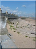NJ9505 : Sea wall at Footdee by Lizzie