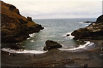 SX0589 : Tintagel Haven by Andy Beecroft