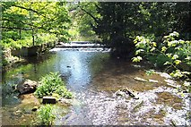 SJ4800 : The stream at Longnor by Adrian Bailey