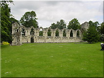 SE5952 : Abbey Ruins in Yorkshire Museum Gardens near River Ouse by Lyall Duffus