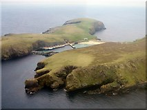 HZ2272 : Aerial view of North Haven, Fair Isle by Lis Burke