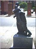 TQ2475 : Statue in Putney. by Noel Foster