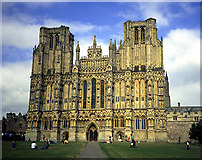 """ST5545 : """"Head On"""" View of Wells Cathedral by Pam Brophy"""