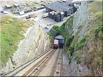 TQ8209 : East Cliff Funicular Railway, Hastings, East Sussex by Pete Chapman